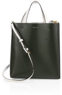 Marni Two-Tone Leather Shopping Bag