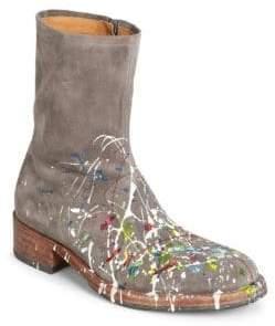 Maison Margiela Paint Splatter Suede Boots