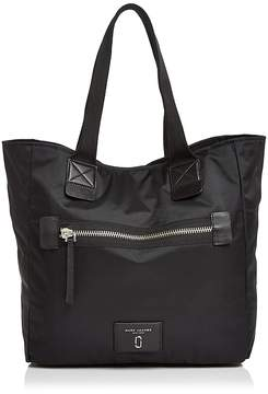 Marc Jacobs Biker North/South Nylon Tote - BLACK/SILVER - STYLE