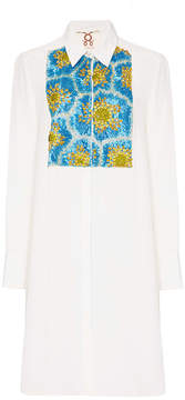 Figue Emmanuel Embroidered Silk Tuxedo Tunic