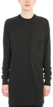 Drkshdw Tonal Patchwork Black Cotton T-shirt