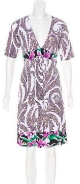 Tahari Floral Print Knee-Length Dress