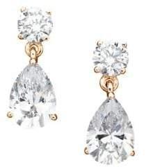 Crislu Rose Goldtone Classic Pear Drop Earrings