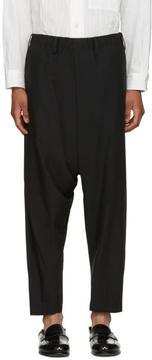 Issey Miyake Black Wool Dropped Trousers