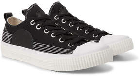 McQ Leather-Panelled Canvas Sneakers