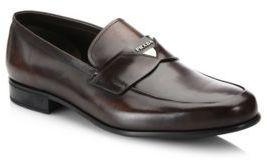 Prada Vittello Leather Loafers