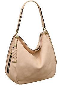 As Is orYANY Kerry Italian Grain Leather Shoulder Bag