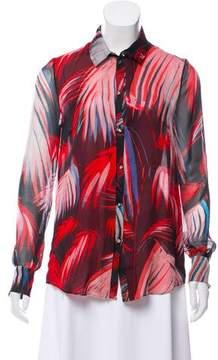 Matthew Williamson Printed Silk Button-Up Top