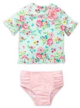 Little Me Little Girl's Two-Piece Floral Swimsuit