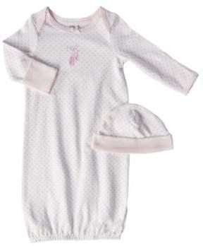 Little Me Newborn Girls 0-3 Months Pink Ballet Slippers Gown Two-Piece Set
