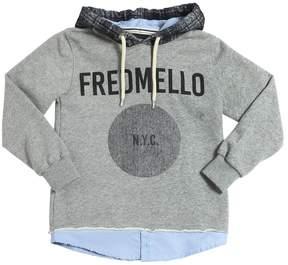 Fred Mello Logo Printed Cotton Sweatshirt