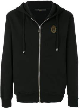Billionaire logo crest zipped hoodie