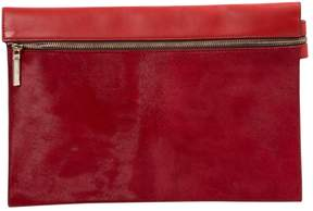 Victoria Beckham Red Pony-style calfskin Clutch Bag