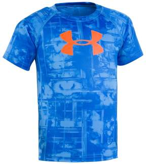 Under Armour Toddler Boy Cloudy Grid Big Logo Tee