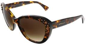Versace Womens Sunglasses (VE4309B) Tortoise/Brown Acetate - Non-Polarized - 57mm