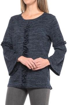 August Silk Ruffled Bell-Sleeve Shirt - Long Sleeve (For Women)