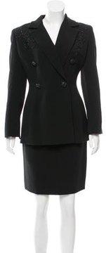 Badgley Mischka Wool-Blend Blazer & Skirt Suit