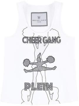 Philipp Plein Graphic tank top with rhinestones - Drakes