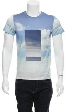 Calvin Klein Collection Ocean Sky Graphic Print T-Shirt