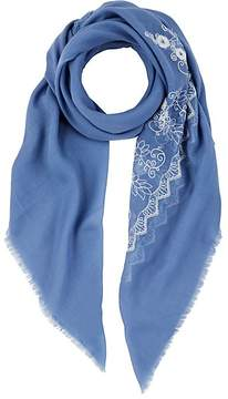 Barneys New York WOMEN'S FLORAL-EMBROIDERED SCARF