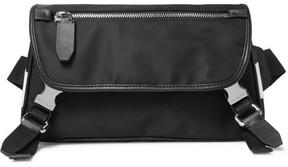 Neil Barrett Leather-Trimmed Shell Belt Bag