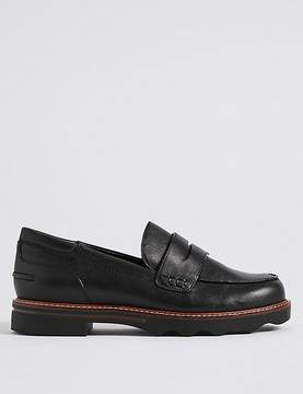 Marks and Spencer Wide Fit Cleat Sole Loafers