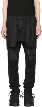Julius Black Layered Trousers