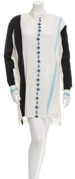 Baja East Printed Wool-Blend Shirtdress w/ Tags