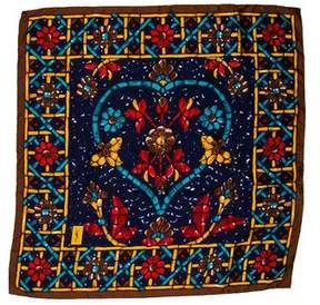 Saint Laurent Silk Floral Scarf