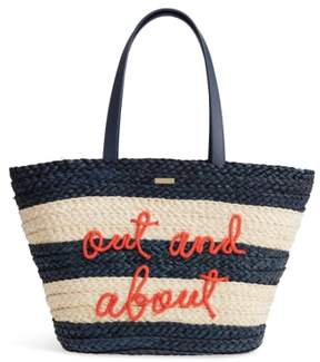 Kate Spade Shore Thing - Out And About Straw Tote - IVORY - STYLE