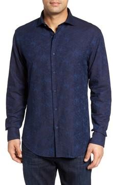Bugatchi Men's Slim Fit Floral Jacquard Sport Shirt