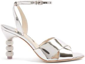 Sophia Webster Natalia crystal embellished-heel leather sandals