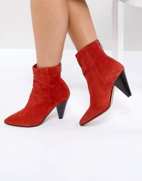 Asos ELODIE Suede Cone Heel Boots