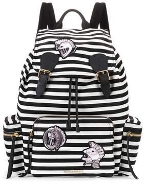 Burberry The Medium Rucksack striped backpack - BLACK - STYLE