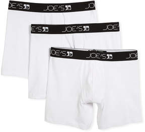 Joe's Jeans Men's 3-Pack Stretch Cotton Boxer Briefs
