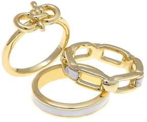 Danielle Nicole Sail Away Enamel 3-piece Stack Ring Set