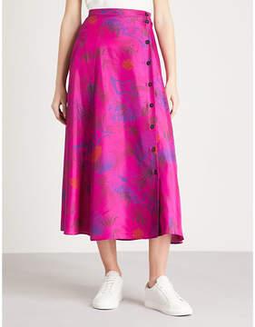 Zadig & Voltaire June jungle-print silk-crepe de chine skirt