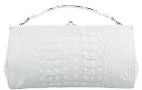 Alberta Ferretti Embossed Leather Handle Bag