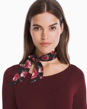 White House Black Market Silk Floral Mini Scarf