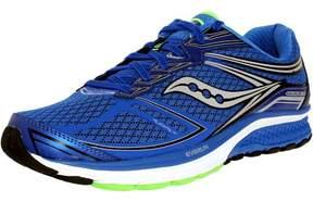 Saucony Men's Guide 9 Blue/Slime/Black Ankle-High Nylon Running Shoe - 9W