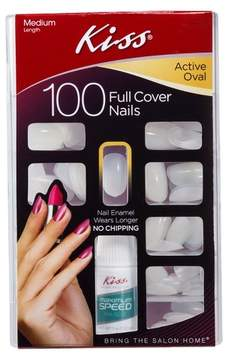 Kiss Full Cover False Nails Active Oval - 100ct