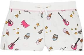 Juicy Couture Cozy Fleece Juicy Doodles Short for Girls