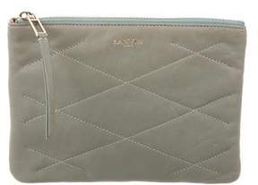 Lanvin Quilted Zip Pouch