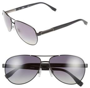 BOSS Men's 62Mm Polarized Aviator Sunglasses - Matte Black Ruthenium/ Grey