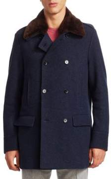 Loro Piana Fur Collar Wool Jacket