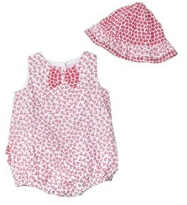 Absorba Girls' 2pc Sunsuit & Hat Set.