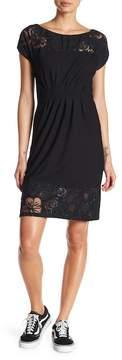 Desigual Short Sleeve Embroidered Dress