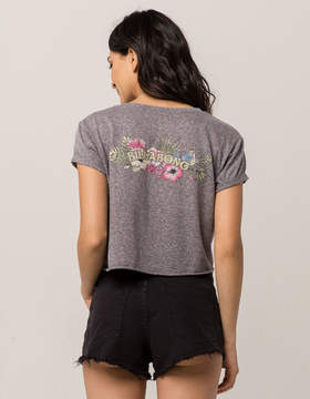 Billabong Floral Womens Crop Tee