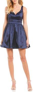 B. Darlin Taffeta Fit and Flare Dress