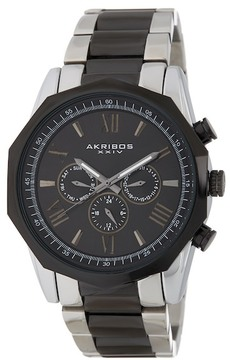 Akribos XXIV Men's Swiss Quartz Multifunction Stainless Steel Bracelet Watch